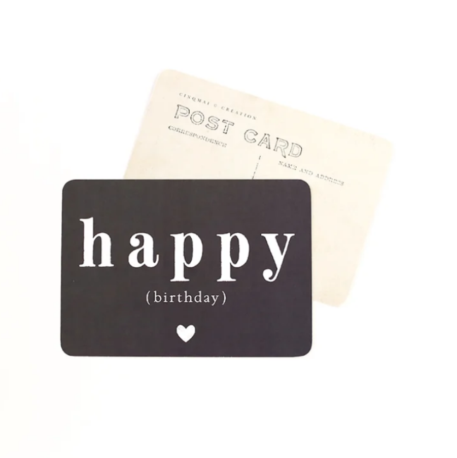 Carte HAPPY BIRTHDAY ardoise